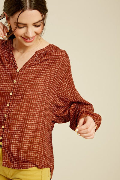 Lydia Button Down Top