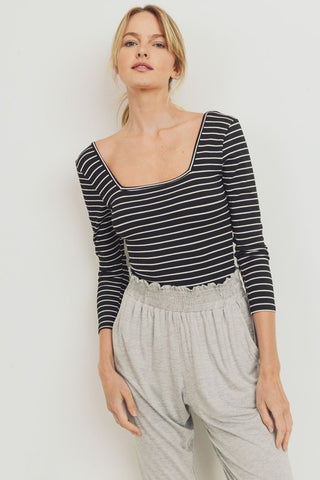 Blaire Striped Bodysuit
