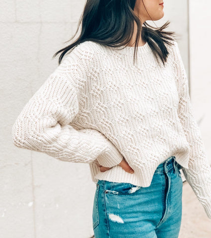 Cora Sweater in Textured Cream