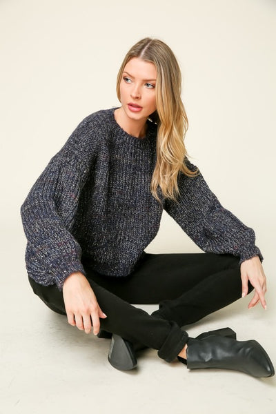Sarah Marled Knit Sweater
