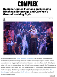 Complex - Designer James Flemons on Dressing Rihanna's Entourage and Cam'ron's Groundbreaking Style