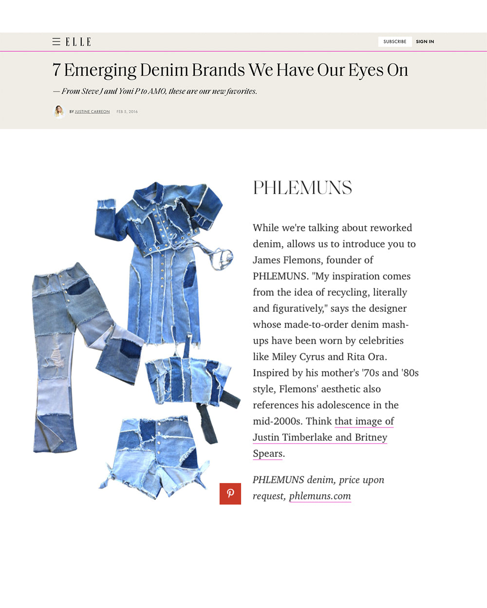 ELLE - 7 Emerging Denim Brands We Have Our Eyes On