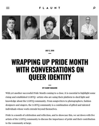 FLAUNT - WRAPPING UP PRIDE MONTH WITH CONVERSATIONS ON QUEER IDENTITY