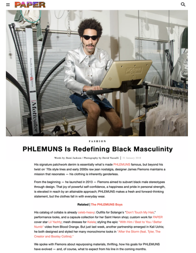 PAPER - PHLEMUNS Is Redefining Black Masculinity