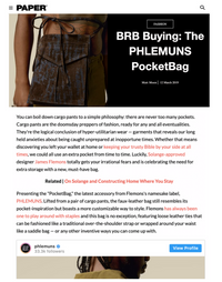 PAPER - BRB Buying: The PHLEMUNS PocketBag