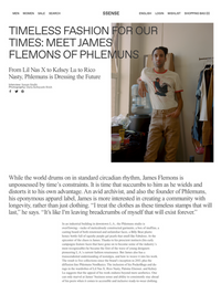 SSENSE - TIMELESS FASHION FOR OUR TIMES: MEET JAMES FLEMONS OF PHLEMUNS