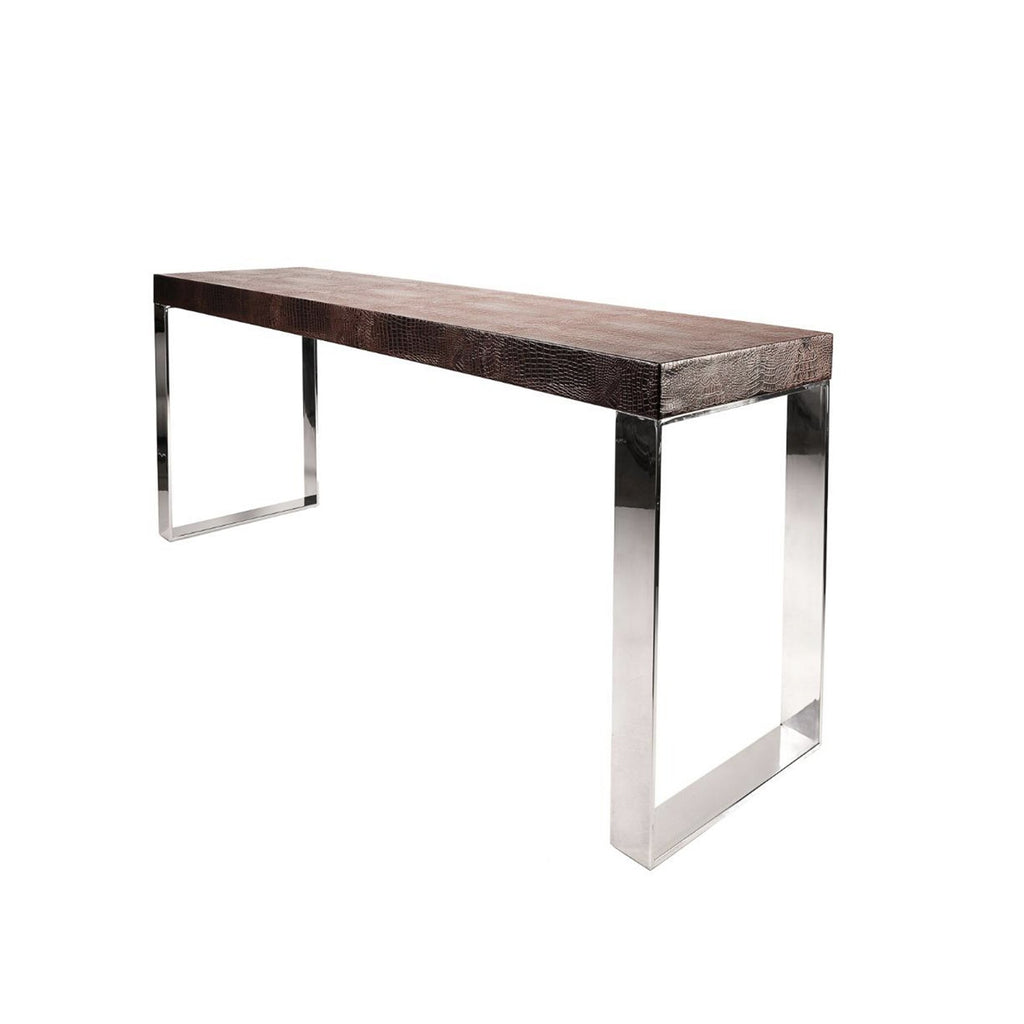 Croco Brown Console