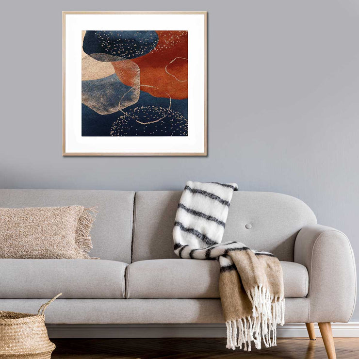 COGNAC BLUE I - Canvas or Framed Print