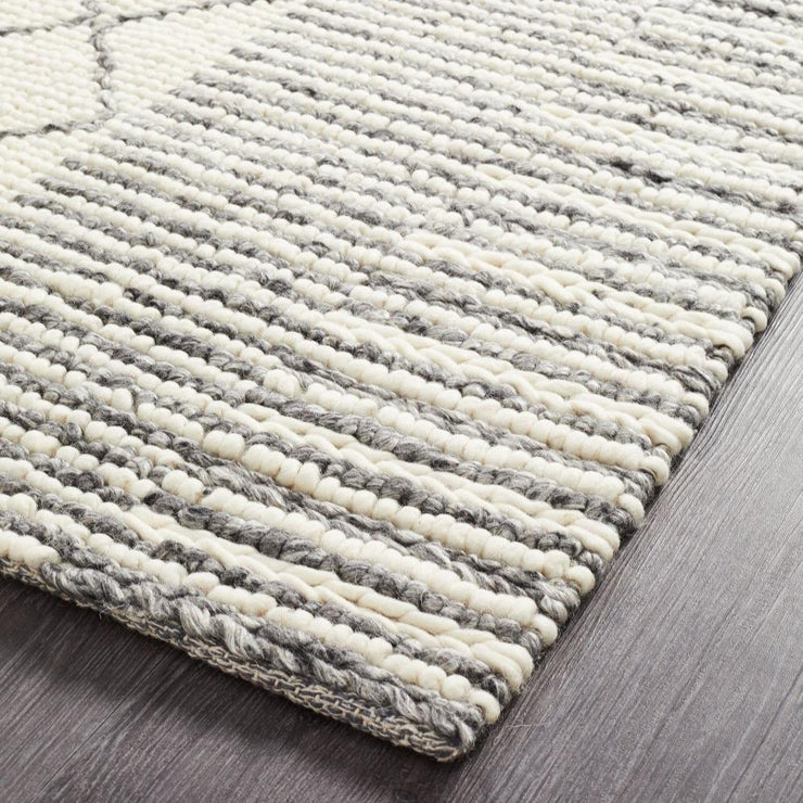 Evie Braid Grey Wool Rug-Alisa & Lysandra