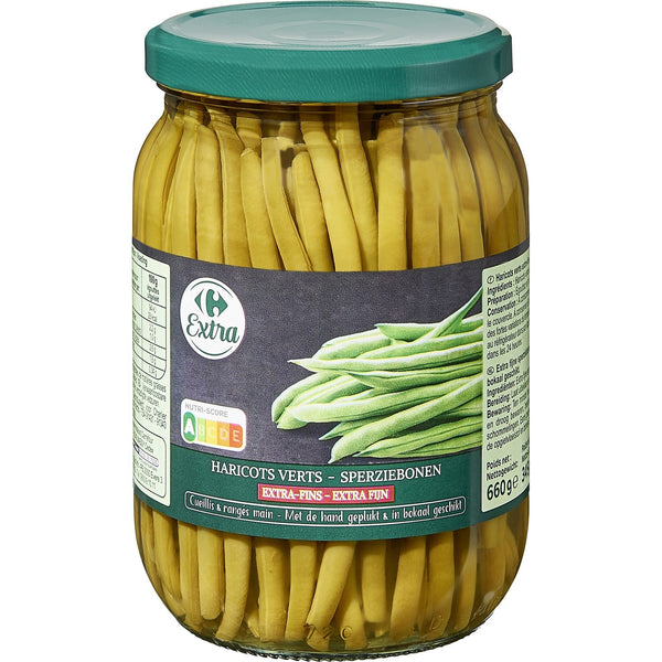 Haricots verts extra fins bocal - Glass jar French beans - Belle France, 660g