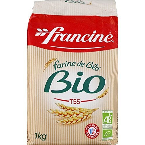 Francine, Organic White French Wheat Flour T55 - 1Kg - Le Vacherin Deli