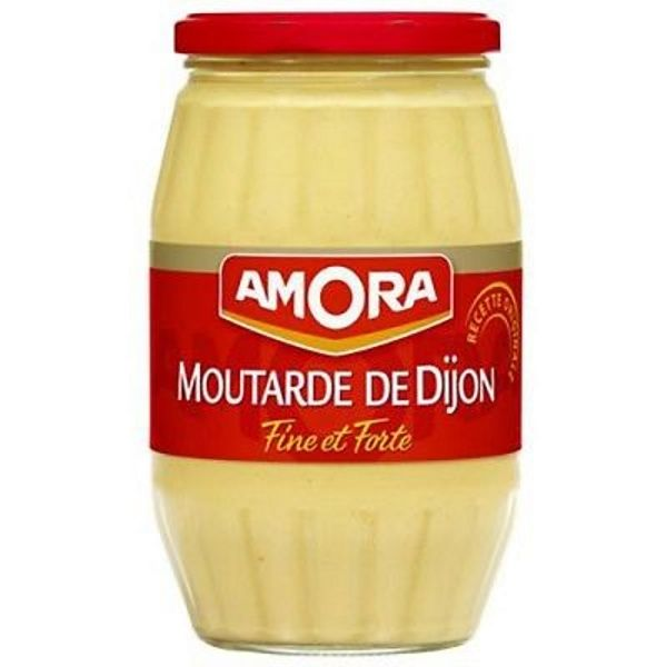 Moutarde de Dijon fine et forte - Dijon mustard very strong (large glass jar) -Amora, 440g