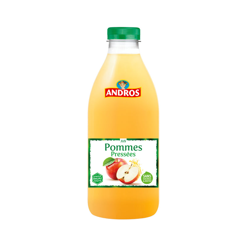 Pommes pressées - Freshly squeezed apple juice glass bottle - Andros, 1L