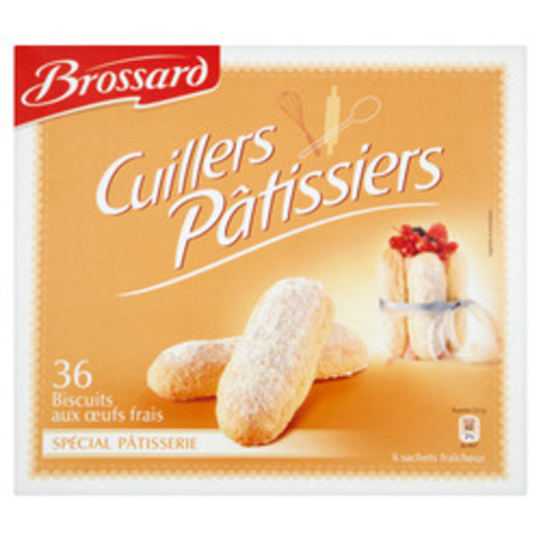 Biscuits cuillers pâtissiers x36 - Sponge fingers biscuits for Charlotte cake - Brossard 300g