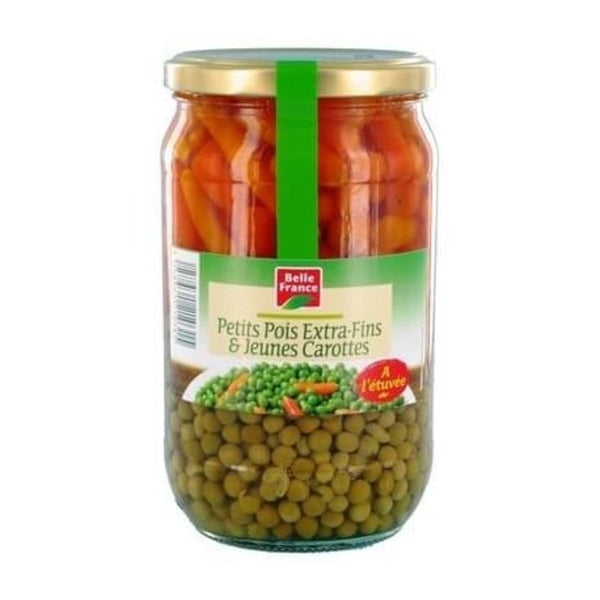 Petits pois & carottes bocal - Glass jar peas & carrots - Belle France, 660g