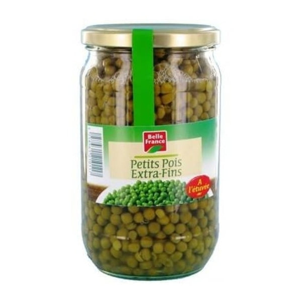 Petits pois extra fins bocal - Glass jar peas - Belle France, 650g