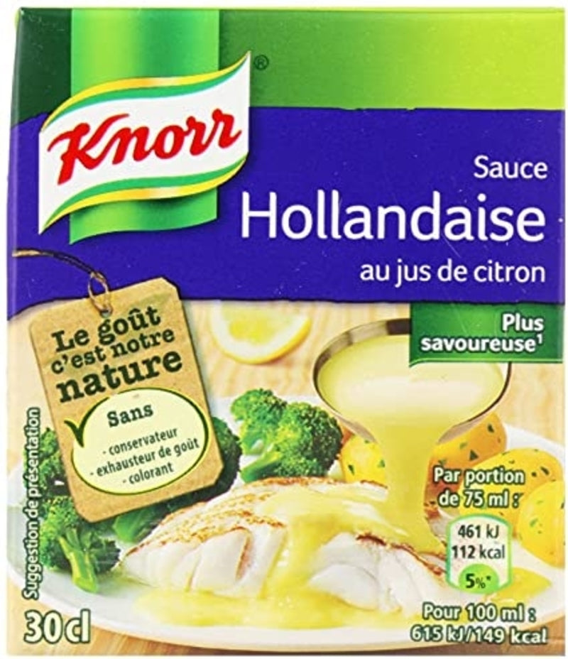 Sauce hollandaise au jus de citron brick - Hollandaise sauce with lemon carton - Knorr, 30cl