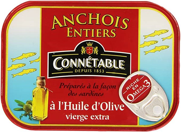 Connétable, Whole Anchovies in Olive Oil - 100g - Le Vacherin Deli