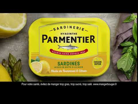 Sardines à l'huile de tournesol -Whole sardines in sunflower oil tin - Parmentier, 135g