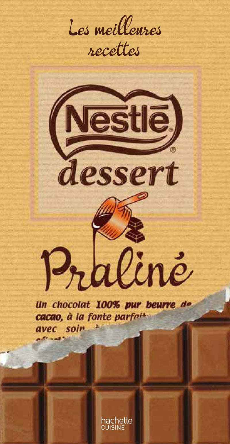 Chocolat au lait praliné - Milk chocolate with praline - Dessert. Nestlé 170g