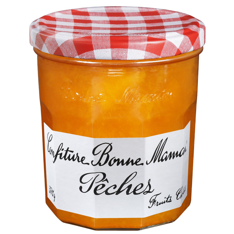 Confiture de pêches - Peach jam (glass jar) - Bonne Maman, 370g