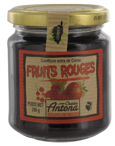 Fruits rouges confiture, Charles Antona, Corsican red fruit forest, 250g