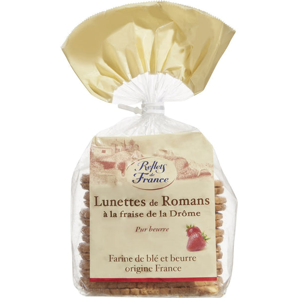 Lunettes de Romans sablés à la fraise – Strawberry Lunettes from Romans (shortbread) – Reflets de France, 350g