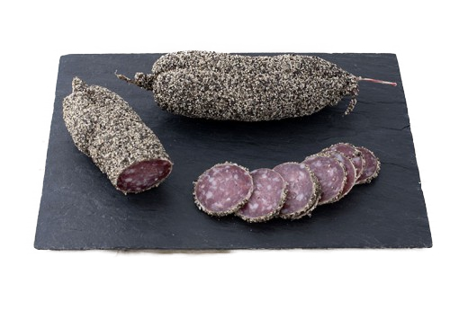 Poivre Saucisson (Pork with black pepper coating),  200gm - Le Vacherin Deli