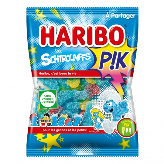 Schtroumpfs bonbons - Smurf-shape sweets - Haribo, 200G