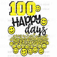 100 days of school happy days 1 Sublimation transfers Heat Transfer