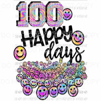 100 days of school happy days 2 Sublimation transfers Heat Transfer