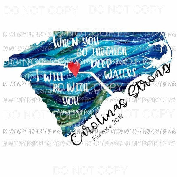 100% of the proceeds go to help the carolinas Sublimation transfers Heat Transfer