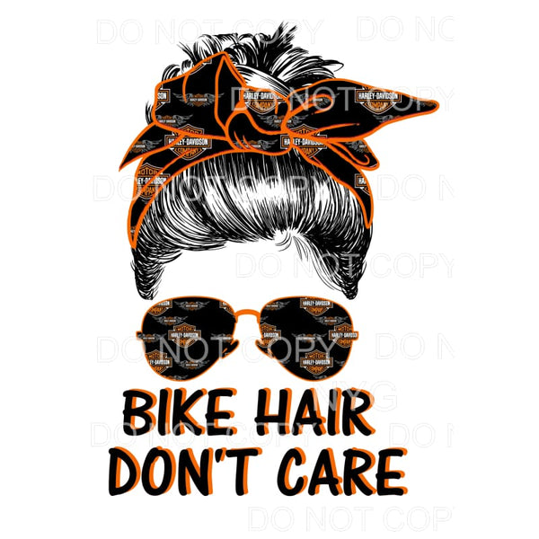 # 3 Bike Hair Don't Care Harley Sublimation transfers - Heat