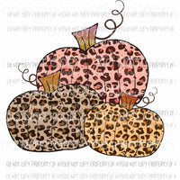 3 leopard pumpkins # 3 Sublimation transfers Heat Transfer