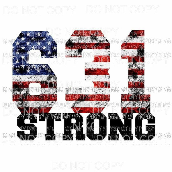 631 Strong american flag Sublimation transfers Heat Transfer