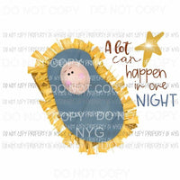A Lot Can Happen In One Night nativity Sublimation transfers Heat Transfer