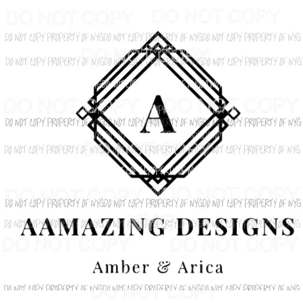 Aamazing designs logo Sublimation transfers Heat Transfer