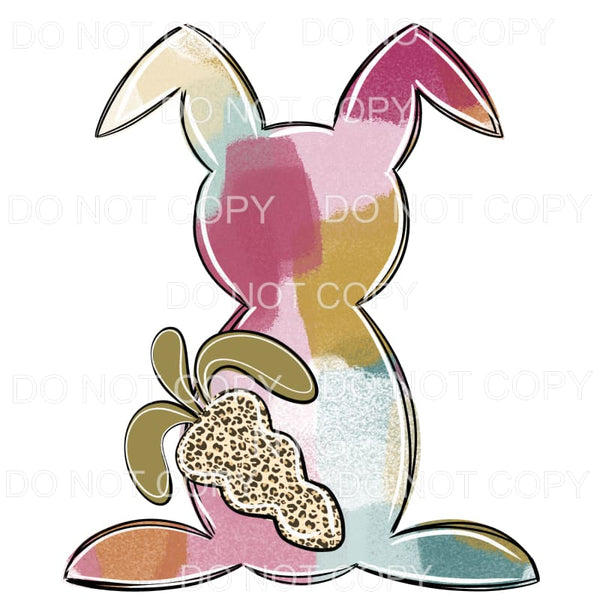 Abstract Bunny Pastel Leopard Carrot Sublimation transfers -