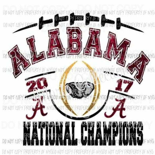 ALABAMA CHAMPIONSHIP SHIRT adult or child size sublimation transfer Heat Transfer