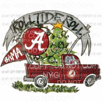 Alabama Christmas truck Sublimation transfers Heat Transfer