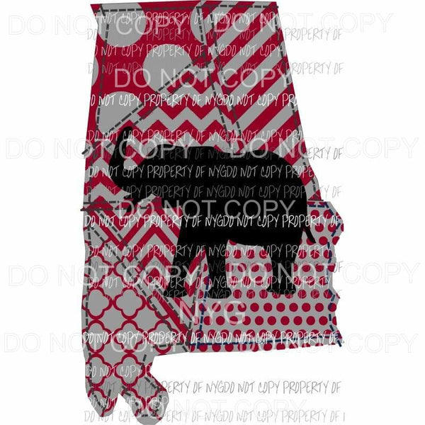 Alabama Elephant Sublimation transfers Heat Transfer