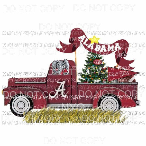 Alabama Truck 2 - christmas Sublimation transfers Heat Transfer