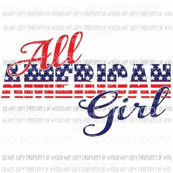 All American Girl Sublimation transfers Heat Transfer