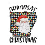 ARKANSAS Christmas SANTA # 4 Sublimation transfers - Heat