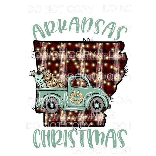 ARKANSAS Christmas TRUCK # 3 Sublimation transfers - Heat