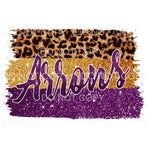 Arrows Purple and gold Sublimation transfers - Heat Transfer
