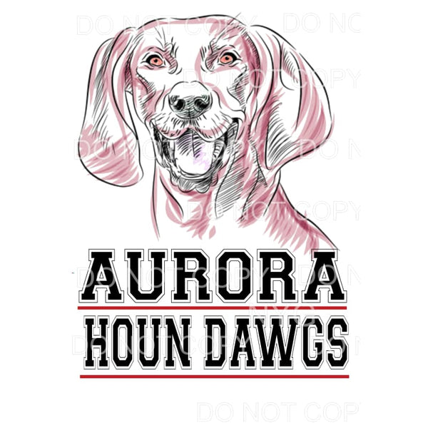 Aurora Houn Dawgs #10 Sublimation transfers - Heat Transfer