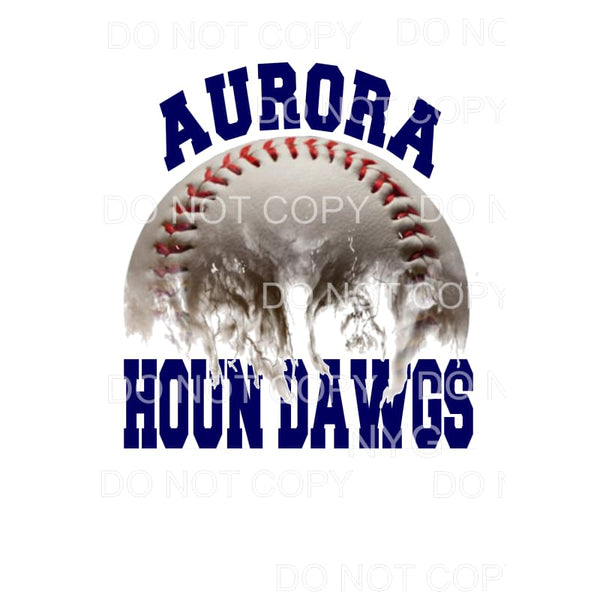 Aurora Houn Dawgs Baseball Navy #1 Sublimation transfers -