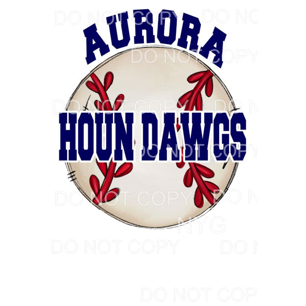 Aurora Houn Dawgs Baseball Navy #2 Sublimation transfers -