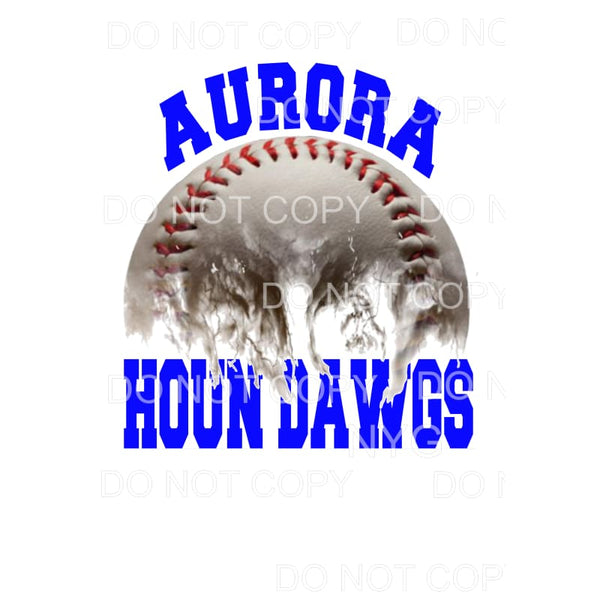 Aurora Houn Dawgs Baseball Royal Blue Sublimation transfers